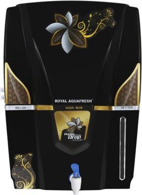 Aqua Fresh Omega Golden Audy 12 L RO + UV + UF + TDS Water Purifier(Black-White)