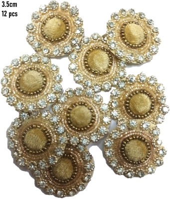 ZILZAA Pearl Patches Colorful Round Shape Handmade Appliques Embellishments for Decoration, Crafts Ideas, Jewelery Making, Easy to Use