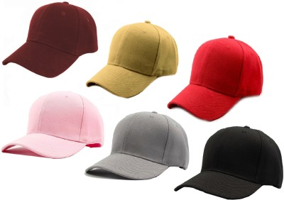Alcove Solid Baseball, Sports, Trucker Cap(Pack of 6)