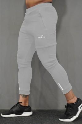 Vitaan Solid Men Grey Track Pants