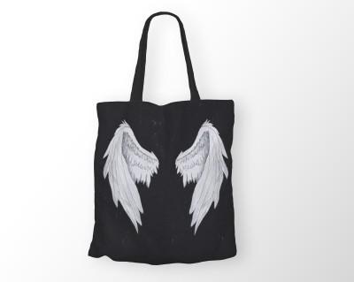 HAZEL Wings Shoulder Bag Black, 20 inch