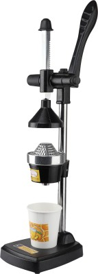 WHITE STONE Aluminium Hand Juicer Hand Press Manual Citrus Juicer/Fruit Juicer/Hand Juicer/Vegetable Juicer(Black)