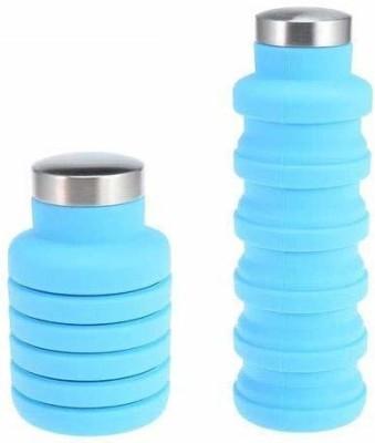 AMMEDARSHAN Folding 500ml Travel Sports Drinking Foldable Water Bottle 500 ml Bottle(Pack of 1, Multicolor, Plastic)