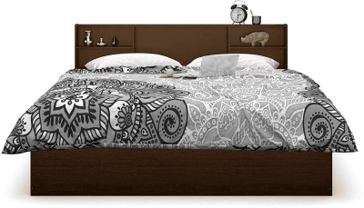 Forzza Jasper Engineered Wood Queen Bed(Finish Color -  Walnut)