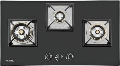 Hindware Elisa Plus 3B Hob Glass, Steel Automatic Hob(3 Burners)