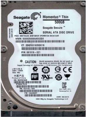 Seagate VEDIO 500 GB Laptop Internal Hard Disk Drive (ST500VTP)