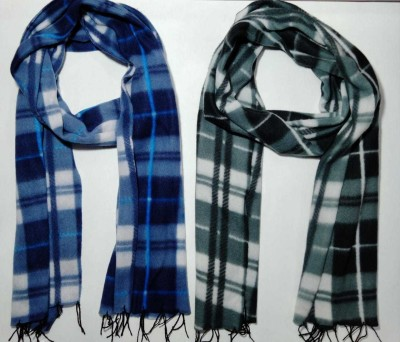 TPM Collections Checkered Men Muffler(Pack of 2)