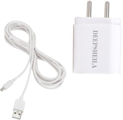 DEEPSHEILA 3.4A. Double Port 5 W 3.4 A Multiport Mobile Charger with Detachable Cable White, Cable Included DEEPSHEILA Wall Chargers