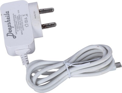 DEEPSHEILA 2.1A. FAST CHARGER WITH ANDROID DATA CABLE 5 W 2.1 A Mobile Charger White, Cable Included DEEPSHEILA Wall Chargers