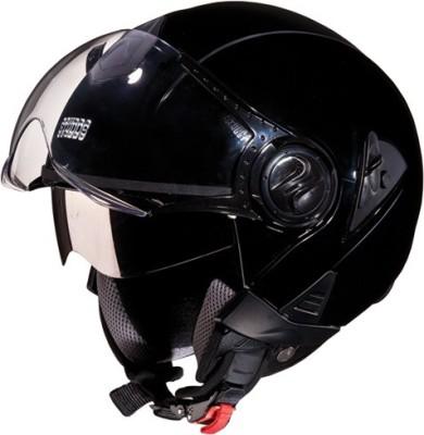 STUDDS DOWNTOWN OPEN FACE - L Motorbike Helmet(Black)