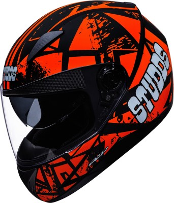 STUDDS Shifter D4 Motorbike Helmet(Matt Black, Orange)