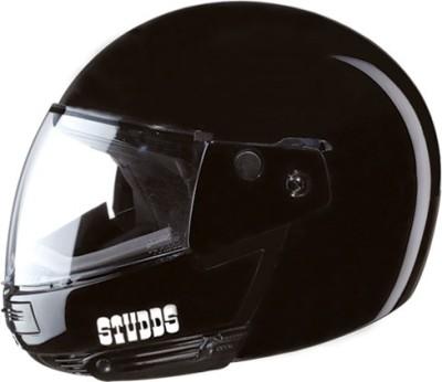 STUDDS NINJA PASTEL PLAIN FULL FACE -XL Motorsports Helmet(Black)