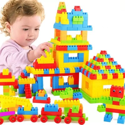 TamBoora Brand New 100 Pcs Building Blocks shapes   Non-Toxic   Brain Building  Creative  Learning  Educational   Toy(100 Pieces)