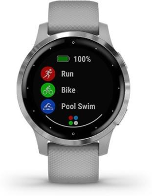 Garmin Garmin VIVOACTIVE 4S Powder Gray/Silver Smartwatch(Grey Strap, m)