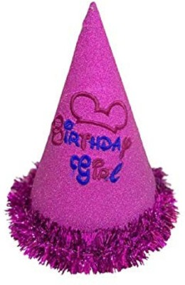 Lazer BIRTHDAY CAP(Pink, Pack of 1)