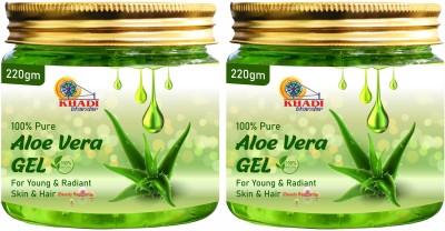 KHADI BHANDAR 100% Pure Aloe Vera Gel for Beautiful Skin & Hair(440 g)