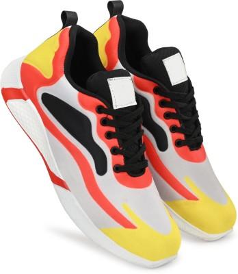 TORRY Lightweight Gymwear Sport Running Shoes For Men Walking Shoes For Men Training & Gym Shoes For Men(White)