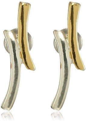 Estele 24 Kt Gold and Silver Plated Spark Stud Earrings Alloy Stud Earring Estele Earrings