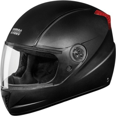 STUDDS PROFESSIONAL FULL FACE WITH -L Motorbike Helmet(Black With Black Strips)