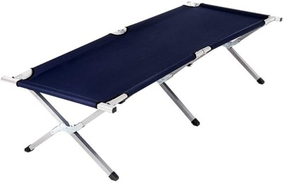 parspar Stainless Steel Folding Bed Cot Metal Single Bed(Finish Color - blue, Delivery Condition - DIY(Do-It-Yourself))
