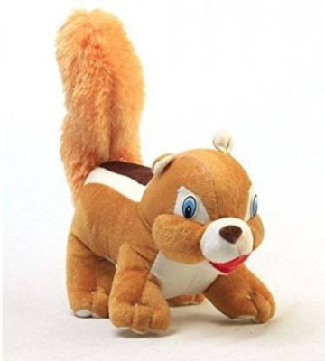 TATSAVI Soft Toy Squirrel   26cm   26 cm Maroon, Cream TATSAVI Soft Toys