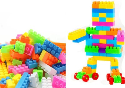 FRAONY NEW ARRIVAL NEW ARRIVAL 100 Pcs Building Blocks,Creative Learning Educational Toy For Kids Puzzle Assembling Building Unbreakable Toy Set 100 Pcs Building Blocks,Creative Learning Educational Toy For Kids Puzzle Assembling Building Unbreakable Toy Set(Multicolor)