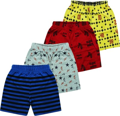 MIST N FOGG Short For Boys & Girls Casual Printed Cotton Blend(Multicolor, Pack of 4)