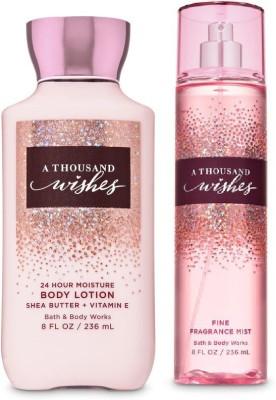 BATH & BODY WORKS A Thousand Wishes Body lotion & Mist Set(236 ml)