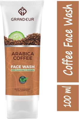 Grandeur Coffee With Coffee, Cucumber & Avocado For Deep Cleansing And Oil Control | All Skin Types| Face Wash(100 ml)