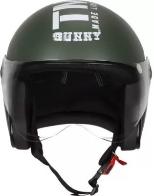 Grizzly O2 Star with Visor ISI Certified Dashing Motorbike Helmet(Multicolor)