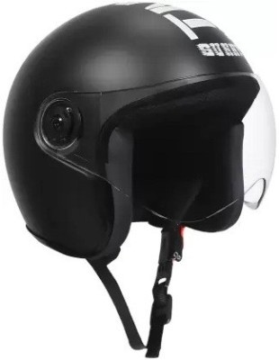 Grizzly O2 Best Quality with Visor ISI Certified Dashing Motorbike Helmet(Black)