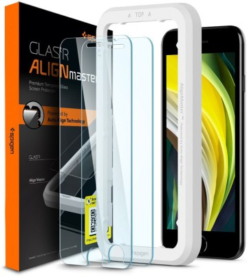 Spigen Tempered Glass Guard for iPhone SE(2020), Apple iPhone 8, Apple iPhone 7(Pack of 2)