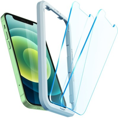 Spigen Tempered Glass Guard for iPhone 12 mini(Pack of 2)