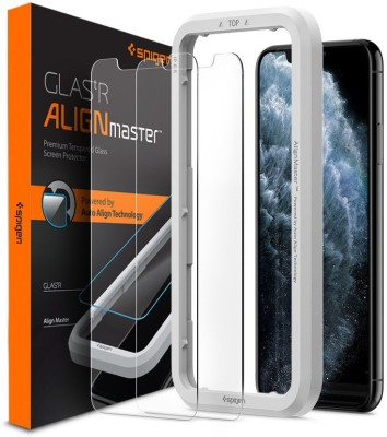 Spigen Tempered Glass Guard for iPhone 11 Pro Max, Apple iPhone XS Max(Pack of 2)