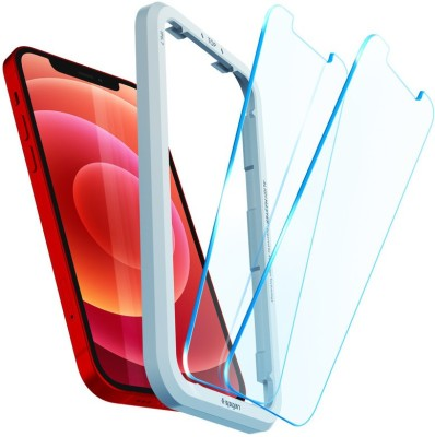 Spigen Tempered Glass Guard for iPhone 12, iPhone 12 Pro(Pack of 2)