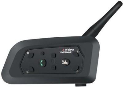 Vnetphone V6 Waterproof Full Duplex 2 Way Audio Motorcycle Bluetooth Intercom Headset with Advanced Noise Control Smart Headphones Wireless Vnetphone
