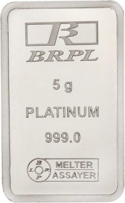 Bangalore Refinery 999 Purity 5 g Platinum Bar Bangalore Refinery Coins   Bars