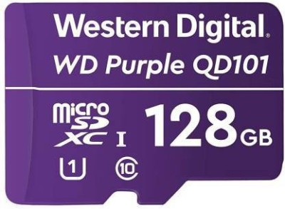 WD WD Purple Surveillance Micro SD 128 GB MicroSDXC Class 10 80 Mbps Memory Card