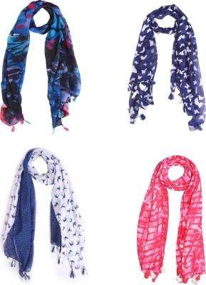 Ziva Fashion Printed Polycotton Women Scarf, Stole, Fancy Scarf