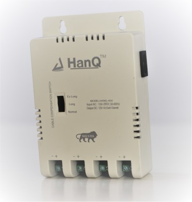 HANQ 4 Channel Power Supply For CP plus Cameras Worldwide Adaptor White