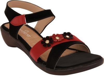 Olive Fashion Women Black, Red Wedges Olive Fashion Wedges