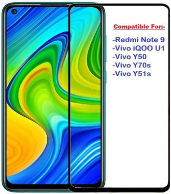 ISAAK Edge To Edge Tempered Glass for Redmi Note 9, Vivo iQOO U1, Vivo Y50, Vivo Y70s, Vivo Y51s(Pack of 1)
