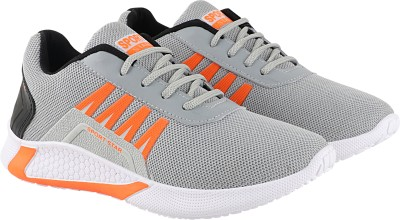 Chevit 516 Sports Sneakers For Men(Grey, Orange)