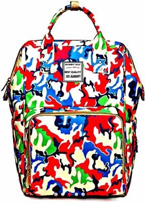 Three Elements Multifunctional Waterproof Large Capacity, Mummy Bag, DIAPPER Bag, Travel Shoulder Backpack Diaper bag(Multicolor)