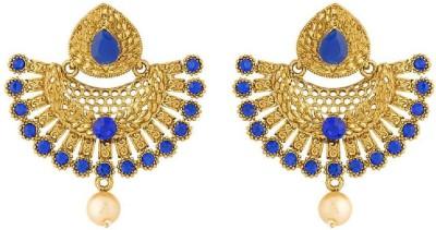 Voylla Artificial Classic Textured Crystal Alloy Drops   Danglers Voylla Earrings