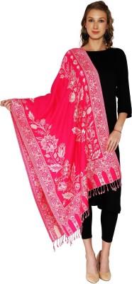 swi stylish Wool Paisley Women Shawl(Pink)