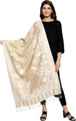 swi stylish Wool Paisley Women Shawl(Beige)