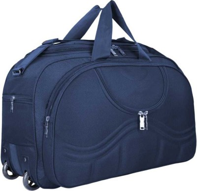 Astro (Expandable) Waterproof Luggage Travel Duffel Bag with Roller wheels Duffel Strolley Bag Travel Duffel Bag Blue D4 Duffel With...