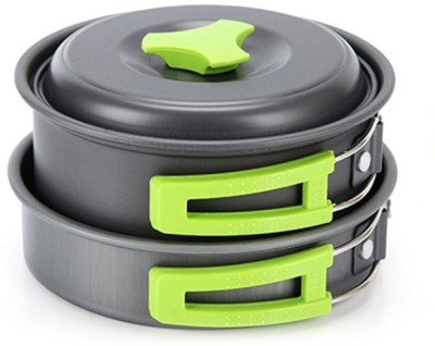 ACNIC Camping Cookware Outdoor Mess Kit Lightweight Backpacking Cooking Set Picnic Pots and Pans Cookware Set(Hard Anodised, Aluminium, 10 -...