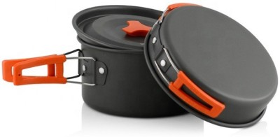 ACNIC Hiking Backpacking Non-Stick Portable Outdoor Camping Cookware Set Cookware Set(Hard Anodised, Aluminium, 10 - Piece)